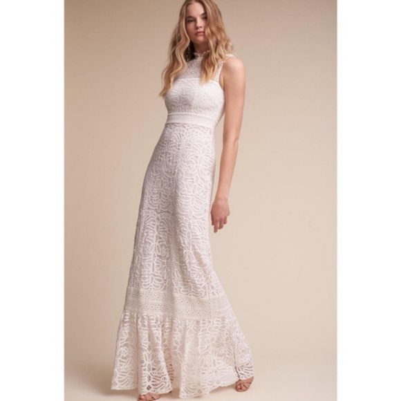 df3b01f2a07 BHLDN Dresses   Skirts - Anthropologie BHLDN Ojai Crochet Wedding Dress 12